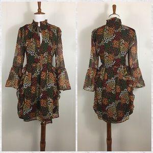 Walter Baker 3/4 Sleeve Floral Alonzo Mini Dress